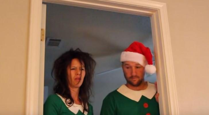 È il loro primo Natale con un neonato in casa: quando si svegliano non credono ai loro occhi
