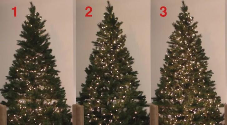 Descubra três modos de colocar as luzes na árvore de Natal... Qual você prefere?