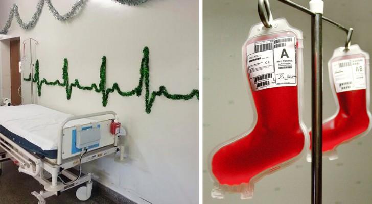 10 decorazioni creative per illuminare il Natale dei malati in ospedale