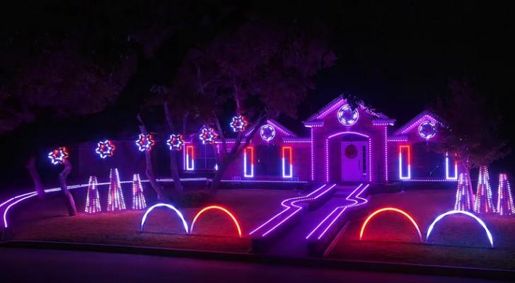 Es gibt viele beleuchtete Häuser an Weihnachten, aber das ist wirklich spektakulär