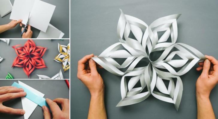 Fiocchi Di Neve Di Carta 3d : Prendete un foglio di carta ecco come trasformarlo in un fiocco