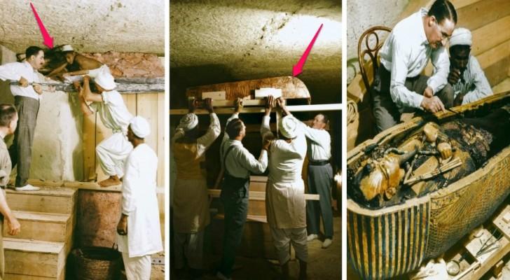 Le spettacolari immagini a colori dell'apertura della tomba di Tutankhamon