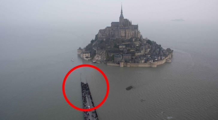 Het getij van de eeuw: het water stijgt tot 14 meter in Mont Saint-Michel