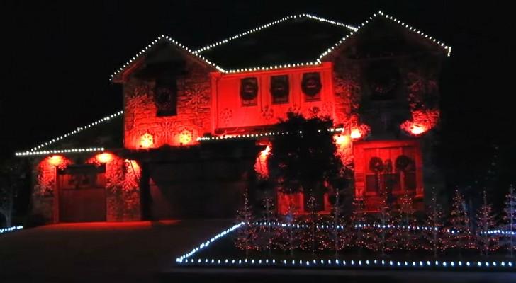 Comienza con una casa toda rosa...pero a continuacion ilumina todo el vecindario!
