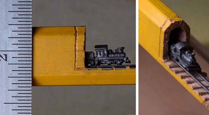 Un'artista trasforma una matita in un oggetto d'arte dal dettaglio formidabile