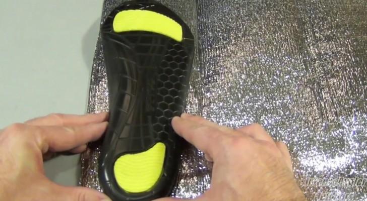 Il coupe un pare soleil en forme d'un pied: voici une astuce PARFAITE pour le froid