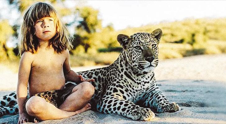 Dit is het verhaal van een meisje dat tot haar tiende jaar leefden met de wilde dieren van Afrika