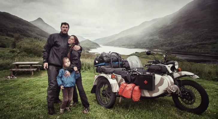 Percorrono 28.000 km, visitano 41 paesi per mostrare il mondo al loro bambino