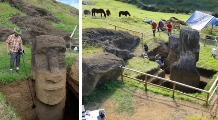 Conoscete queste teste ma non quello che c'è SOTTO: uno scavo ci rivela il segreto