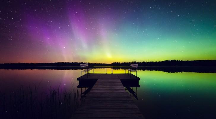 Un fotografo si reca in Finlandia e cattura l'Aurora boreale come non l'avete mai vista