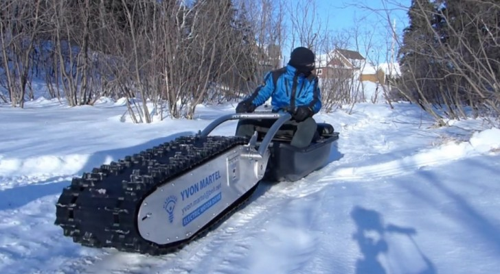 Met deze sneeuwscooter kun je grenzen overschrijden. Wacht maar tot je hem in actie ziet!