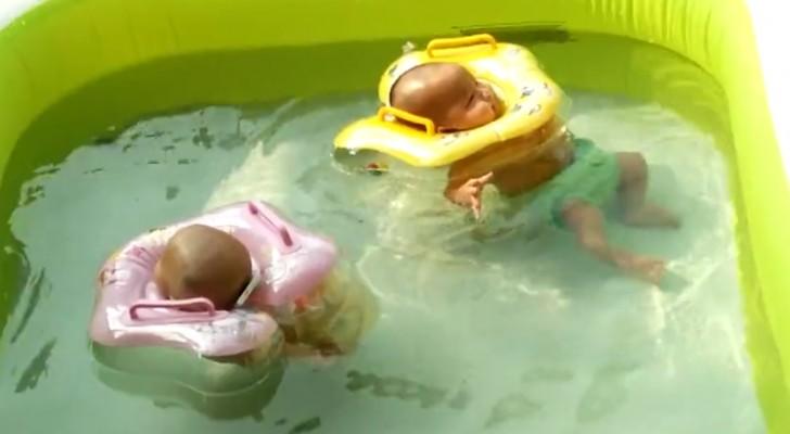 Het gezicht van deze schattige kindjes in het zwembad maakt je dag helemaal goed