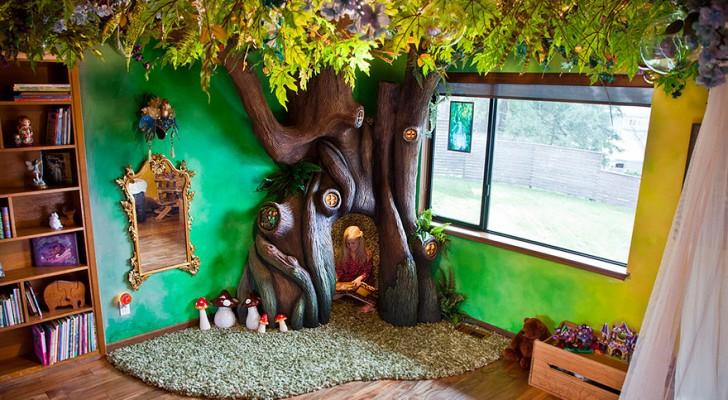 Voleva un albero nella stanza: ciò che realizza suo padre supera le sue aspettative