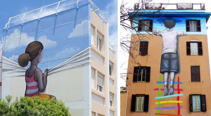 Ecco a voi i giganteschi, originali e potenti graffiti che stanno colorando le città di tutto il mondo