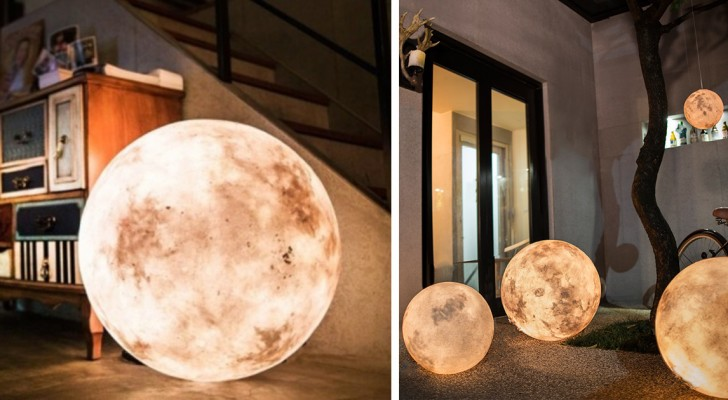 Met deze Luna lamp breng je de de maan in je kamer... Geweldig!