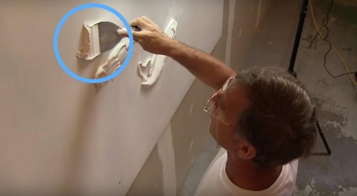 Wat deze man kan creëren met simpel pleisterwerk is ongelooflijk!