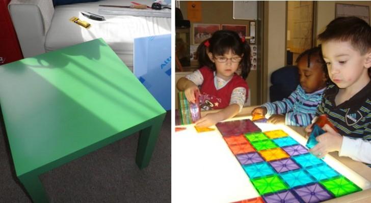 I tavolini IKEA diventano lavagne luminose per bambini: ecco come farne una a casa