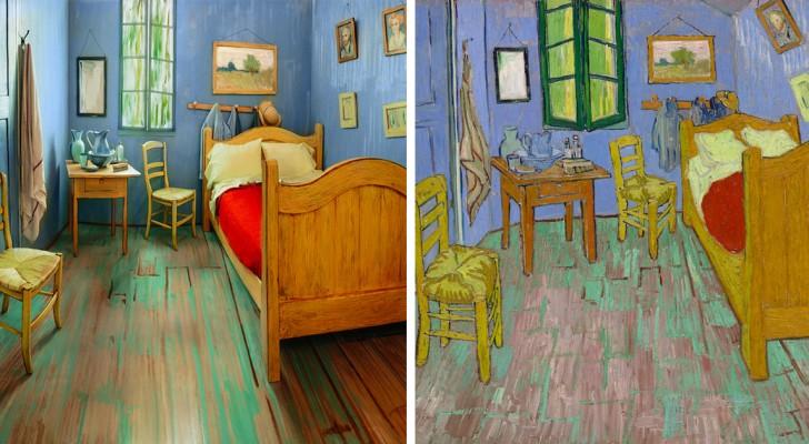 De slaapkamer van Van Gogh is in het echt nagemaakt; de gelijkenis is indrukwekkend