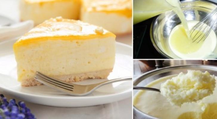 Torta di mousse allo yogurt e succo di limone: un dessert di classe non è mai stato così facile