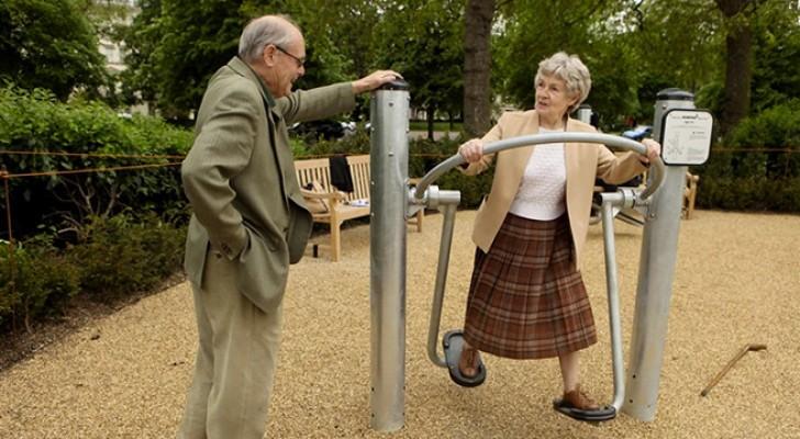 Ouderen vermaken zich kostelijk in deze speeltuin voor senioren!