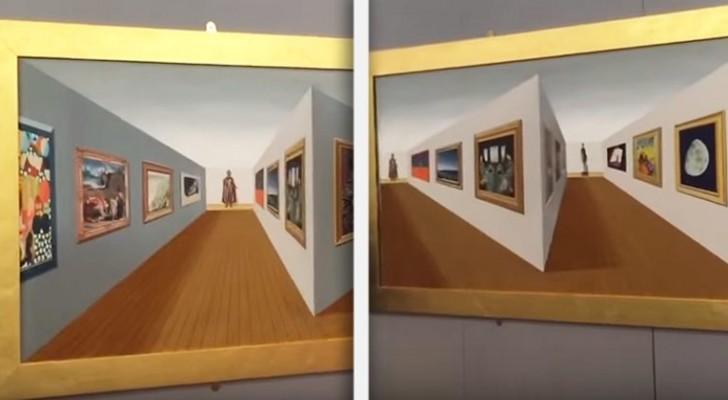 Titta noga på detta konstverk i perspektiv: er hjärna kommer att undra vad som händer!