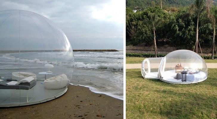 Ecco a voi la tenda trasparente che vi permette di dormire ammirando il cielo stellato