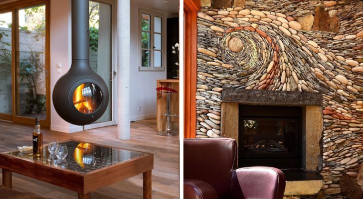 Ecco alcuni tra i caminetti più belli e originali: lasciatevi ispirare!