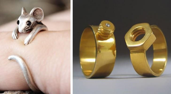 Oubliez les diamants et les pierres précieuses: voici quelques-unes des bagues les plus originales jamais créées