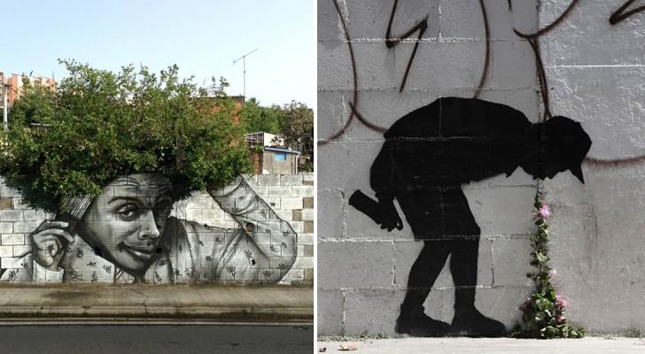 Deze prachtige graffitiwerken zijn één met de natuur