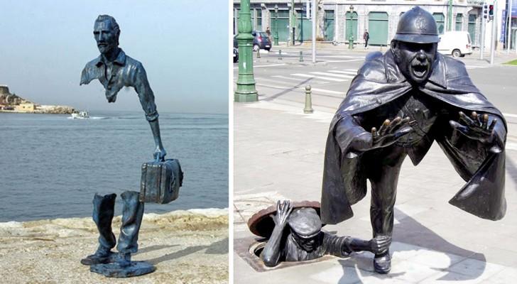 11 krachtige beeldhouwwerken waar je niet zomaar omheen kunt