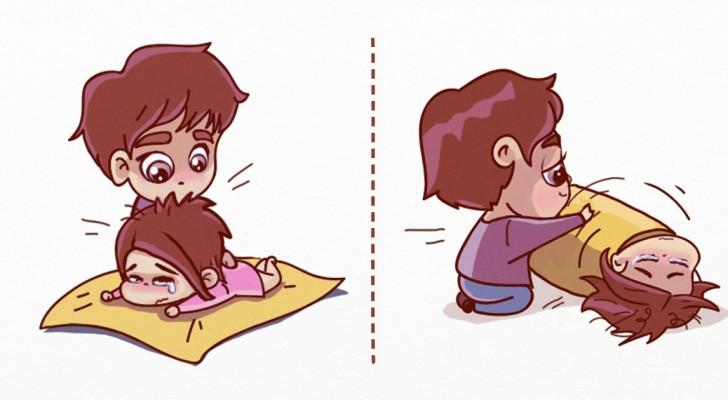Queste stupende vignette ci spiegano come prenderci cura di una persona triste
