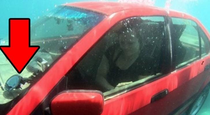 Un experimento nos muestra como salir de un automovil si cae en el agua