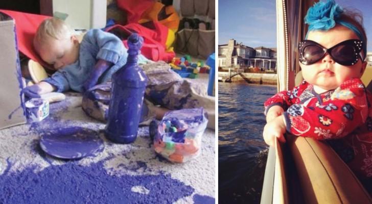 20 grappige foto's die laten zien dat je je NOOIT verveelt met kinderen!