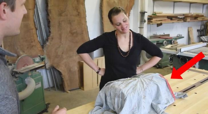 Un charpentier décide de créer un cadeau pour sa femme, le résultat est étonnant!