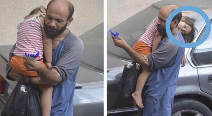 Grazie alla foto scattata da un passante, questo papà ha potuto aprire un negozio e a dare un futuro a sua figlia