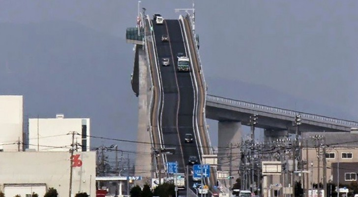 It may seem like a roller coaster --- but it is actually an awe-inspiring Japanese bridge!