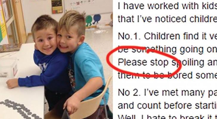 Un enseignant demande aux parents de cesser de faire ces trois choses: son appel fait le tour du monde