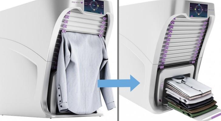 Le fer à repasser part à la retraite : voici la machine qui désinfecte, repasse et plie les vêtements à votre place