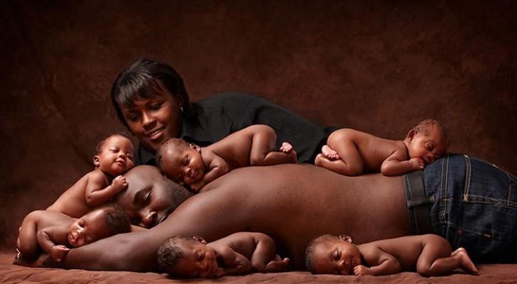 Scattarono questa foto alla nascita dei 6 gemelli: dopo 6 anni la ripetono... ed è deliziosa!