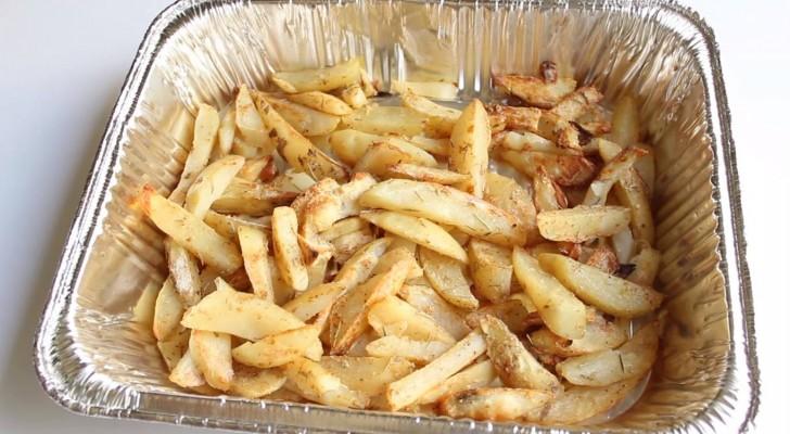 Leckere Backkartoffeln: hier ein Trick um sie ohne Öl zu backen