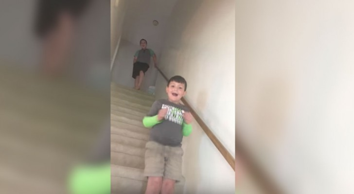 His mother tells her son he is cancer free --- his joy is heart-stirring!