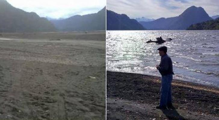 In Patagonië is binnen een paar uur een gigantisch meer verdwenen experts zijn sprakeloos