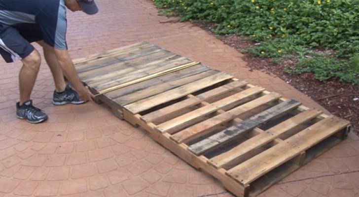 Dondolo Da Giardino Fai Da Te : Un uomo vi mostra come costruire un dondolo da giardino usando due
