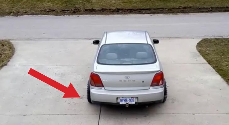 Sembra un'auto come tante altre, ma nasconde un'utilissima caratteristica