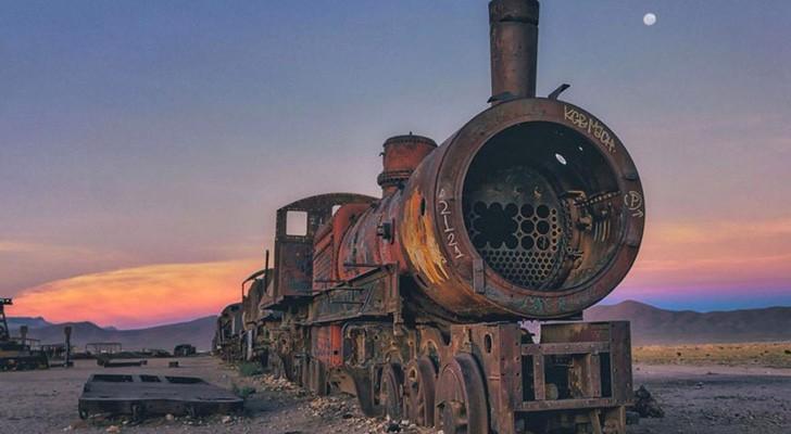 Bolivie: les images fascinantes d'un cimetière pour... trains