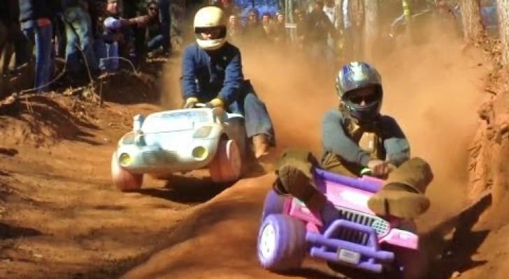 La course avec les baby Jeep