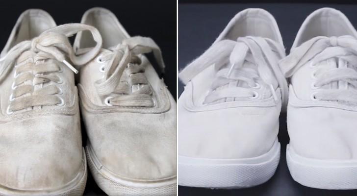 rengöra skor invändigt