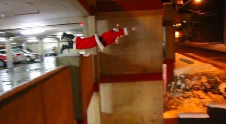 Babbo Natale Parkour