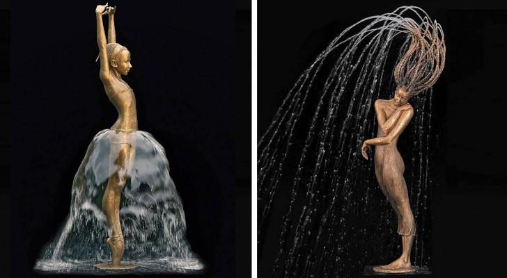 Unisce il bronzo con l'acqua: il risultato è un capolavoro di incredibile bellezza