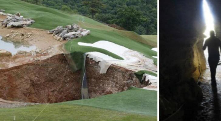 Ein Erdloch tut sich auf einem Golfplatz auf: Und drinnen befindet sich ein Juwel der Naturgeschichte